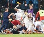 Estados Unidos vs Argelia en la Copa Mundial de Fútbol, Sudáfrica 2010. Foto: AFP