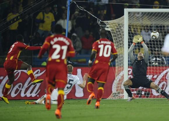 Kevin Prince Boateng abrió el marcador y Ghana mantenía ventaja de 1-0 sobre Estados Unidos. Foto: AFP
