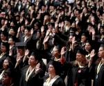Graduación de 4 mil 485 enfermeros y enfermeras pertenecientes a la Misión Sucre (1 de junio de 2010) Foto: Prensa Miraflores