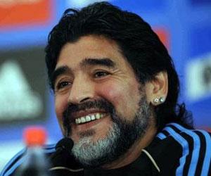 Maradona en Sudáfrica 2010