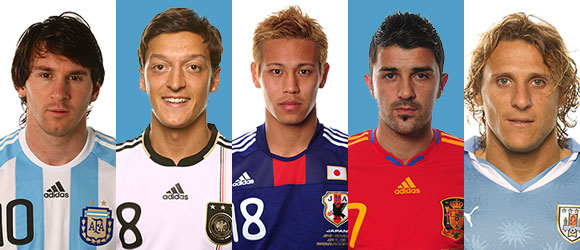 Messi, Ozil, Honda, Villa y Forlán las estrellas en la primera ronda