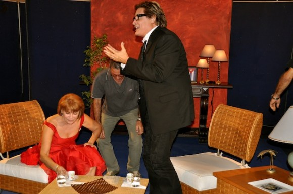 """Mirtha Ibarra y Amaury Pérez en """"Con 2 que se quieran"""". Fotos: Petí"""