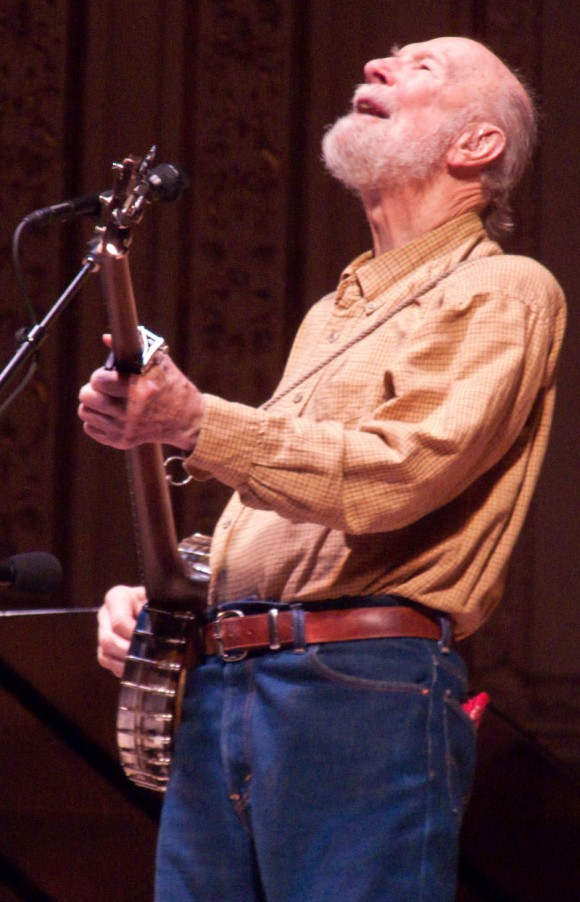 Pete Seeger en el Carnegie Hall, en el 2008. Foto: Getty Images