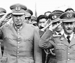Augusto Pinochet y Hugo Banzer, dictadores de Chile y Bolivia.