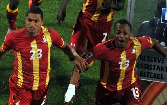 Primer gol de Ghana frente a Estados Unidos. Foto: AFP