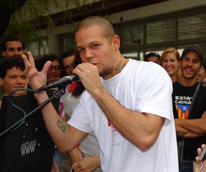 René Pérez, Residente del grupo Calle 13. Foto Archivo: Marianela Dufflar