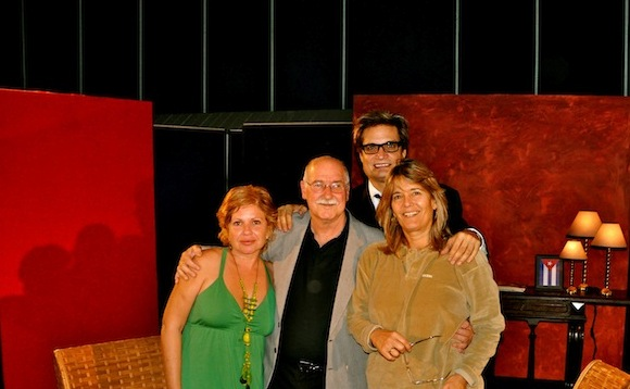 De derecha a izquierda: Isabel Santos, Reynaldo González, Amaury Pérez y Petí.