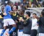 Robinho celebra su gol contra Zimbabwe Foto Getty Imágenes
