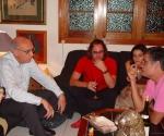 Saramago, Ernesto Rancaño y Amaury Pérez. Foto: Petí