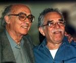 Saramago y García Márquez en Cuba en la celebración del Aniversario 40 de la Revolución.  Foto Reuters