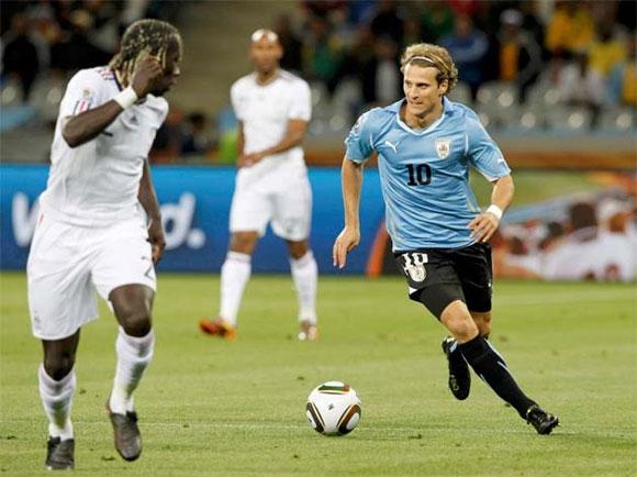 Partido Uruguay vs Francia. Copa Mundial de Fútbol, Sudáfrica 2010. Foto Reuters