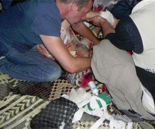 Imagen de las víctimas del asalto israelí