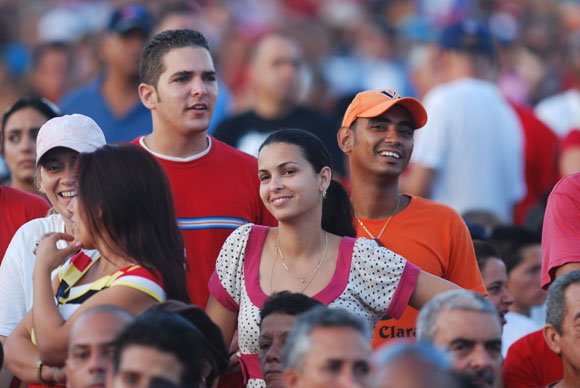 Los villaclareños celebraron el Acto por el 26 de julio en Santa Clara. Foto: Roberto Ruiz Espinosa