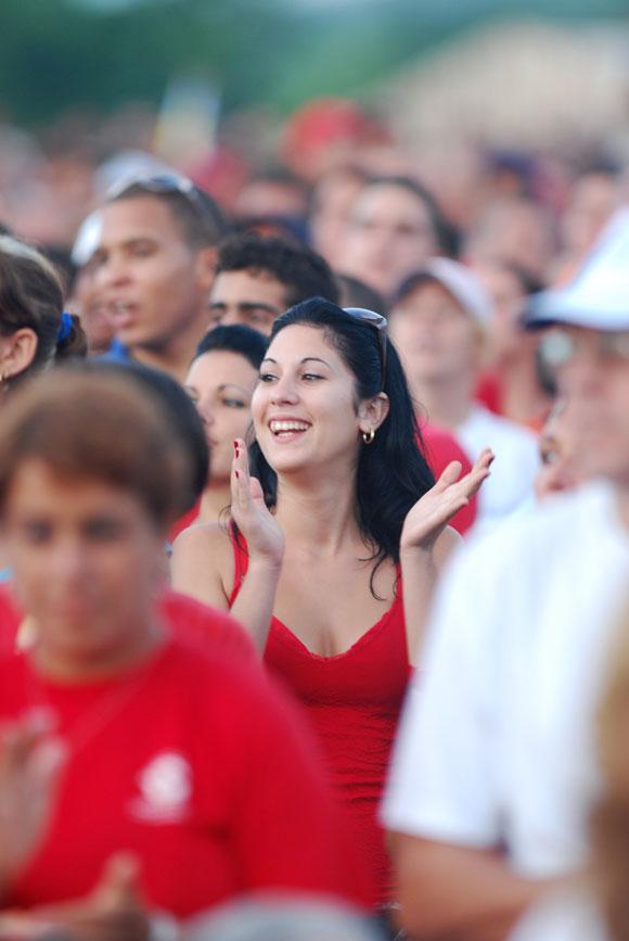 Villa Clara celebra con júbilo el Acto por el 26 de julio en Santa Clara. Foto: Roberto Ruiz Espinosa