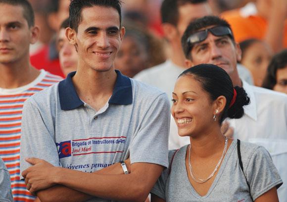 La juventud villaclareña asistió al Acto por el 26 de julio en Santa Clara. Foto: Roberto Ruiz Espinosa