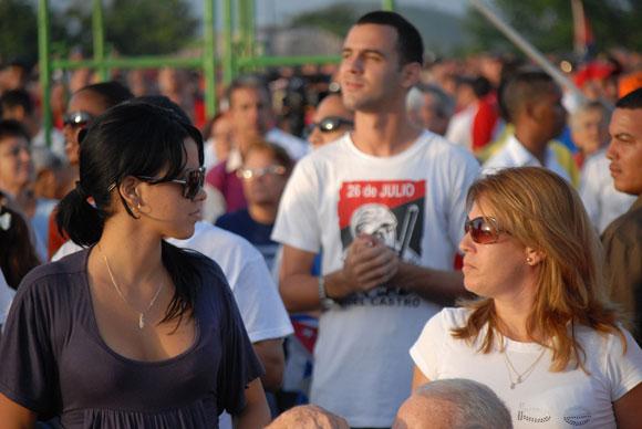 Acto por el 26 de julio en Santa Clara. Foto: Roberto Ruiz Espinosa