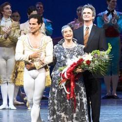 Jose Manuel Carreño, Alicia Alonso y el director artístico del American Ballet Theater Kevin McKenzie