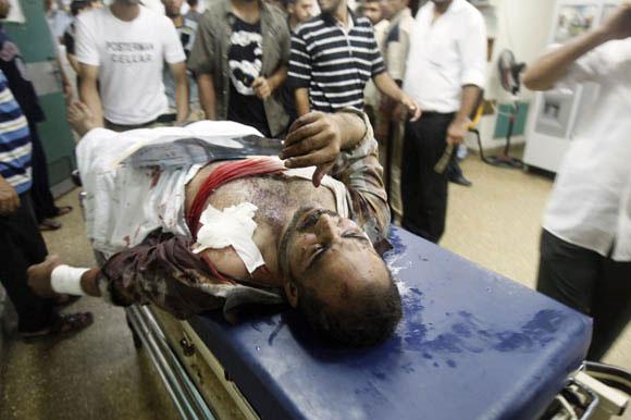 Ataque de Israel a Gaza. Foto: AFP