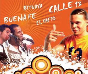 Buena Fe y Calle 13 en concierto en Caracas, Venezuela