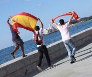 Cuba: celebrando la gran final de la Copa Mundial de Fútbol, Sudáfrica 2010. Foto: 10K