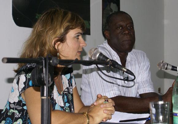 Choco fue el protagonista del Encuentro de este jueves en la Feria Arte en la Rampa. Foto: Cubadebate