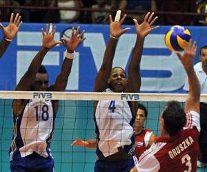 Cuba vence a Polonia 3-1 en Liga Mundial de Voleibol. Foto: EFE