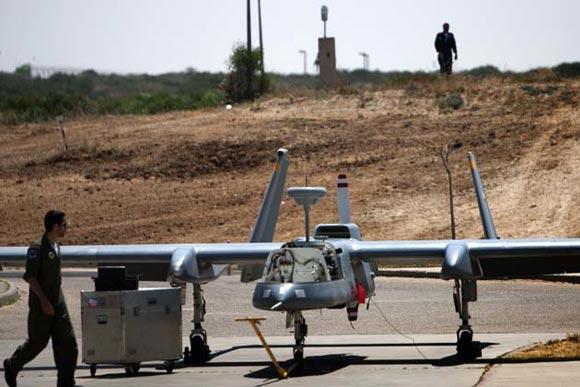 Drones: aviones militares sin piloto, fabricados por Israel. Foto: AFP