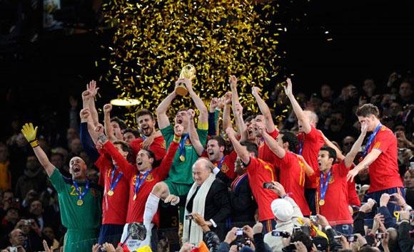 España gana la Copa Mundial de Fútbol, Sudáfrica 2010. Foto: Reuters