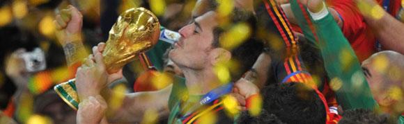 España gana la Copa Mundial de Fútbol, Sudáfrica 2010.