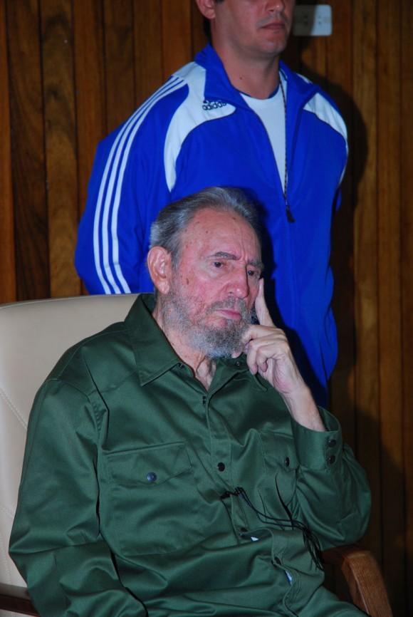 Fidel en el Memorial a los Mártires del 26 de Julio en Artemisa. Foto: Estudios Revolución