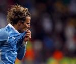 Forlán en la Copa Mundial de Fútbol 2010. Foto: Archivo