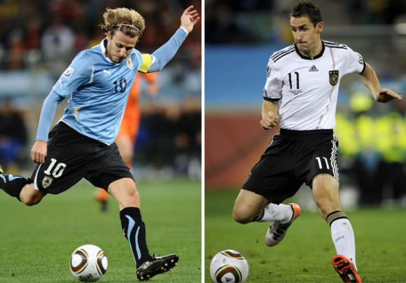 Miroslav Klose y Diego Forlán