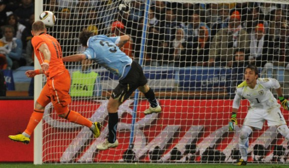 Holanda vs Uruguay en la semifinal del Mundial de Fútbol