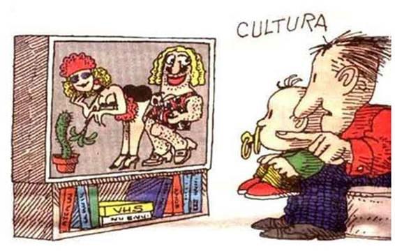 Valores del hombre moderno. Caricatura: Quino
