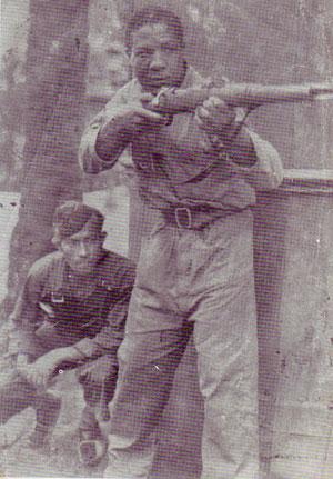 Isidro Díaz Gener, boxeador cubano que combate en defensa de la República Española. Foto de archivo