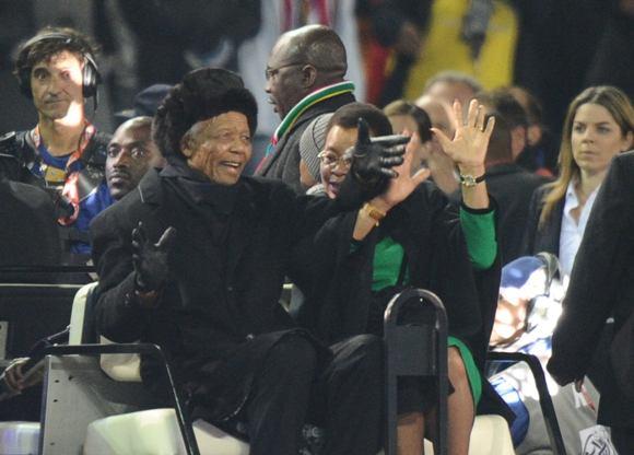 Nelson Mandela presente en la clausura del Mundial