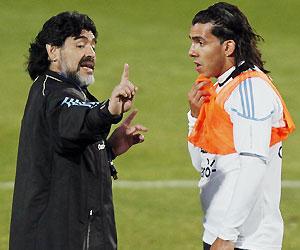 Maradona y Tevez