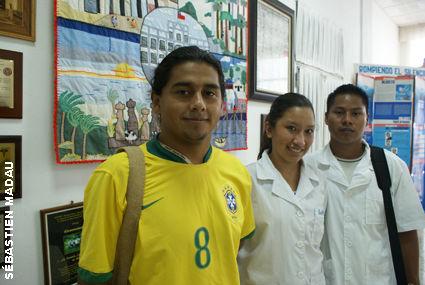 Pedro, Leila y Wenderley, futuros médicos