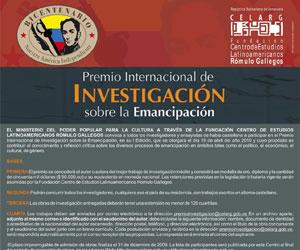 Premio internacional de investigacion sobre Emancipación