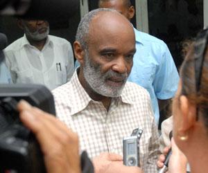 Preval durante su visita de trabajo a Cuba
