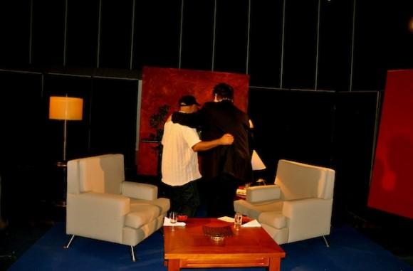 """Alexis Díaz Pimienta y Amaury Pérez, en """"Con 2 que se quieran"""". Foto: Petí"""