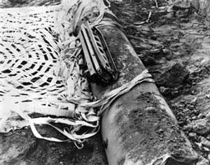 Una de las bombas que no estallaron en Almería