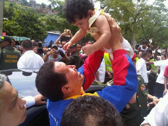 Hugo Chávez en Santa Marta