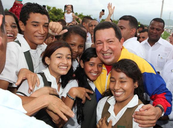 Chávez en Santa Marta, Colombia. Foto: Prensa Miraflores