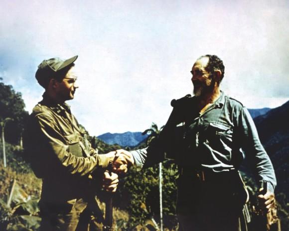 El capitán Felipe Guerra Matos y el comandante Crescencio Pérez.