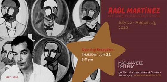 Exponen obras de Raúl Martínez en New York