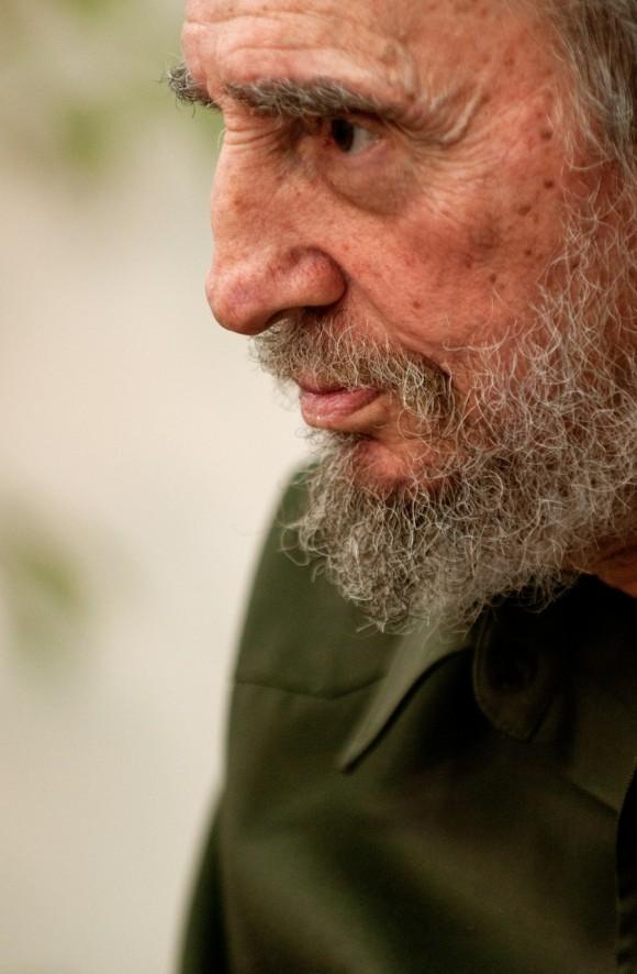 Fidel Castro en entrevista con periodistas venezolanos. Foto: Roberto Chile