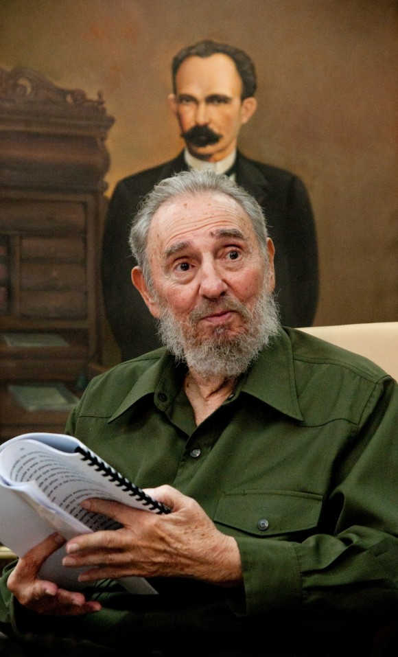 Fidel y Martí. Foto: Roberto Chile