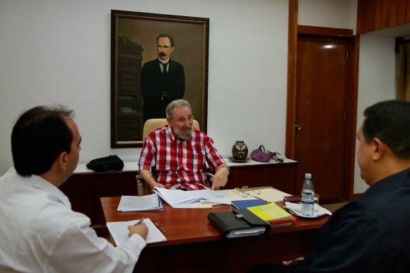 Fidel Castro y Hugo Chavez. Foto: Estudios Revolución