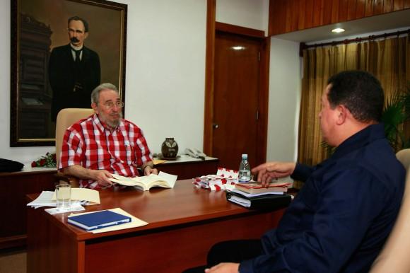 Fidel y Chávez. Foto: Estudios Revolución